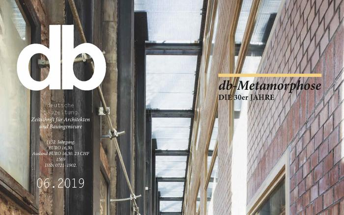 "A new article in the architectural magazine ""db – Deutsche Bauzeitung"""