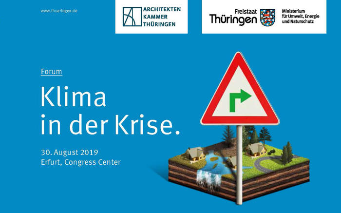 "Conference ""Climate in Crisis"", Erfurt / Germany, 30 August 2019"