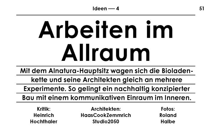 New article about the Alnatura working environment in the latest issue of Baumeister