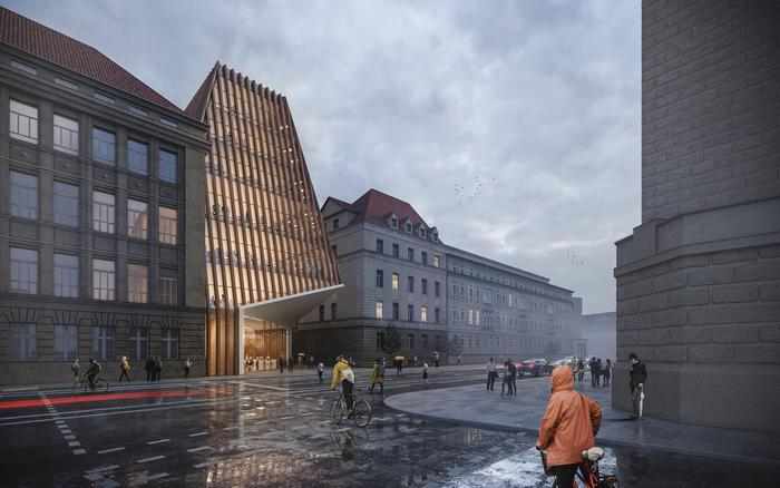Competition entry for the new research building Charité in Berlin