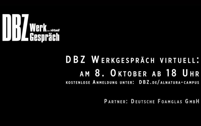 visit the Alnatura Campus virtual with the DBZ WerkGespräch